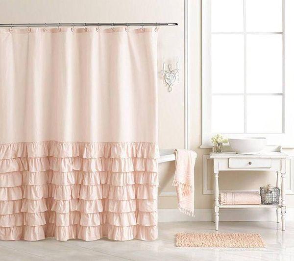 LC Lauren Conrad for Kohl's Pink Bath Curtain