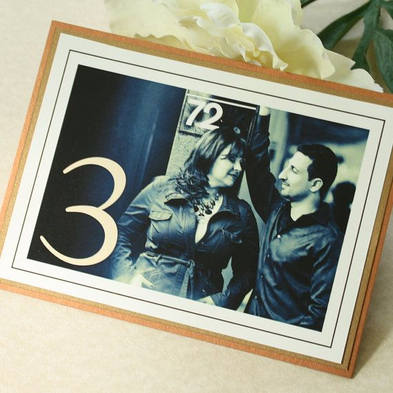 Engagement Photo Table Numbers