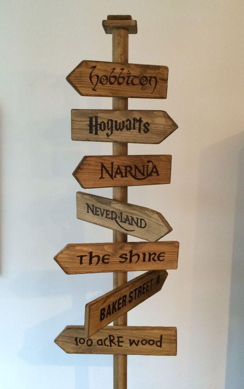 'Fantasy Street Sign' - Hobbiton, Hogwarts, Narnia, Neverland, The Shire, Baker Street & 100 Acre Wood