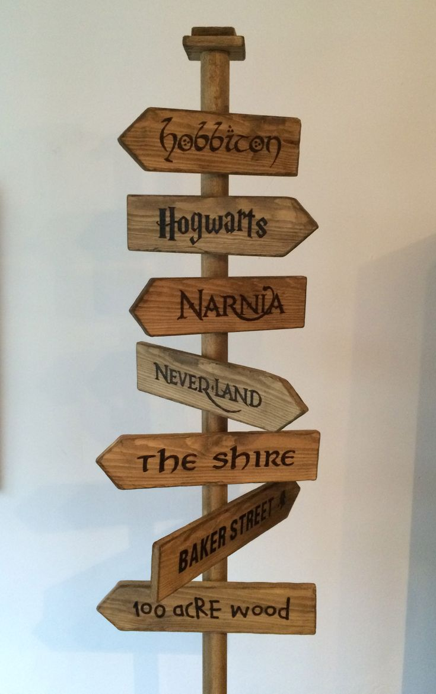 Fantasy Street Sign Hobbiton Hogwarts Narnia
