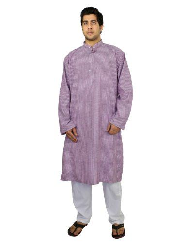 kurta pajama set for men Indian dress for summer purple black striped , size L ShalinIndia,http://www.amazon.com/dp/B00J4LF1P0/ref=cm_sw_r_pi_dp_JigHtb04CVZ8JMZK