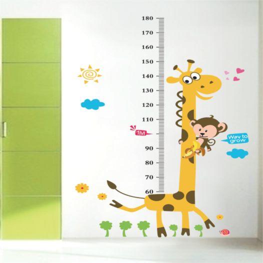 Hemdekor - Väggdekor Mätsticka Giraff