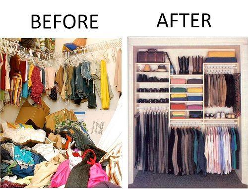 Konmari method of cleaning clutter