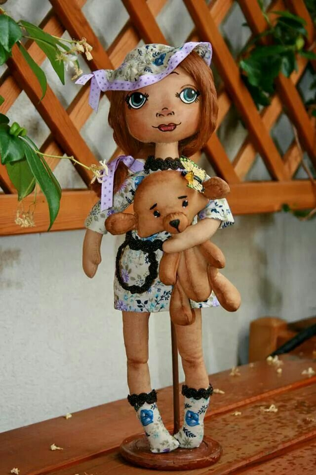 Textile Art doll, made by order, in private collection in Russia