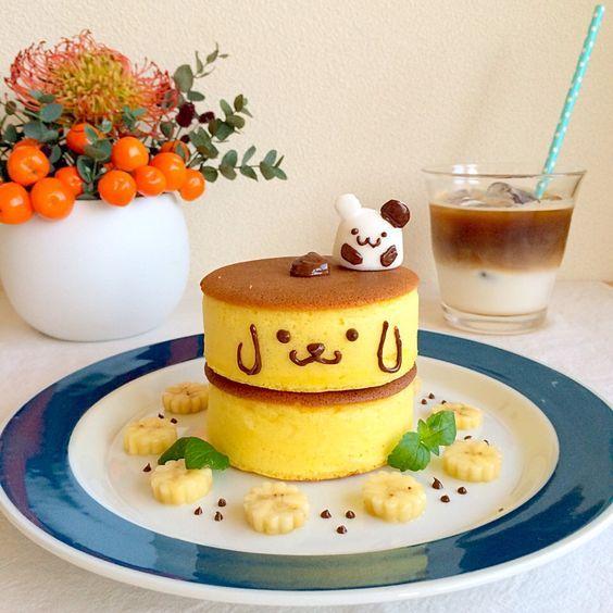 (1) ポムポムプリンのパンケーキ