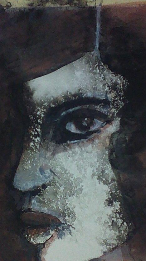 The Face, acrylic on paper by Tatjana Danilovic