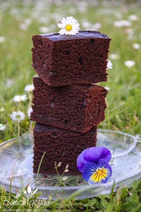 gesunde Brownie oder Schokoladenkuchen Schnitten fettfrei milchfrei eifrei vegan - healthy chocolat brownie cakes fat free, vegan
