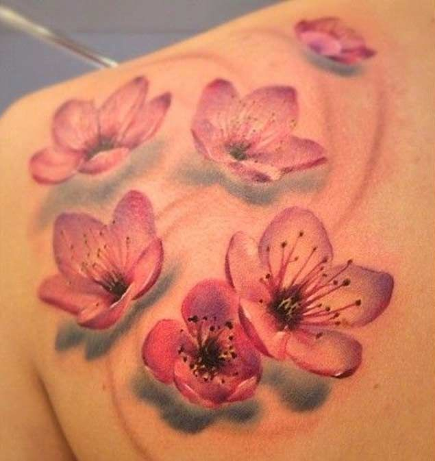 150+ Cherry Blossom Tattoo Designs And Meanings awesome  Check more at http://fabulousdesign.net/cherry-blossom-tattoos-meanings/