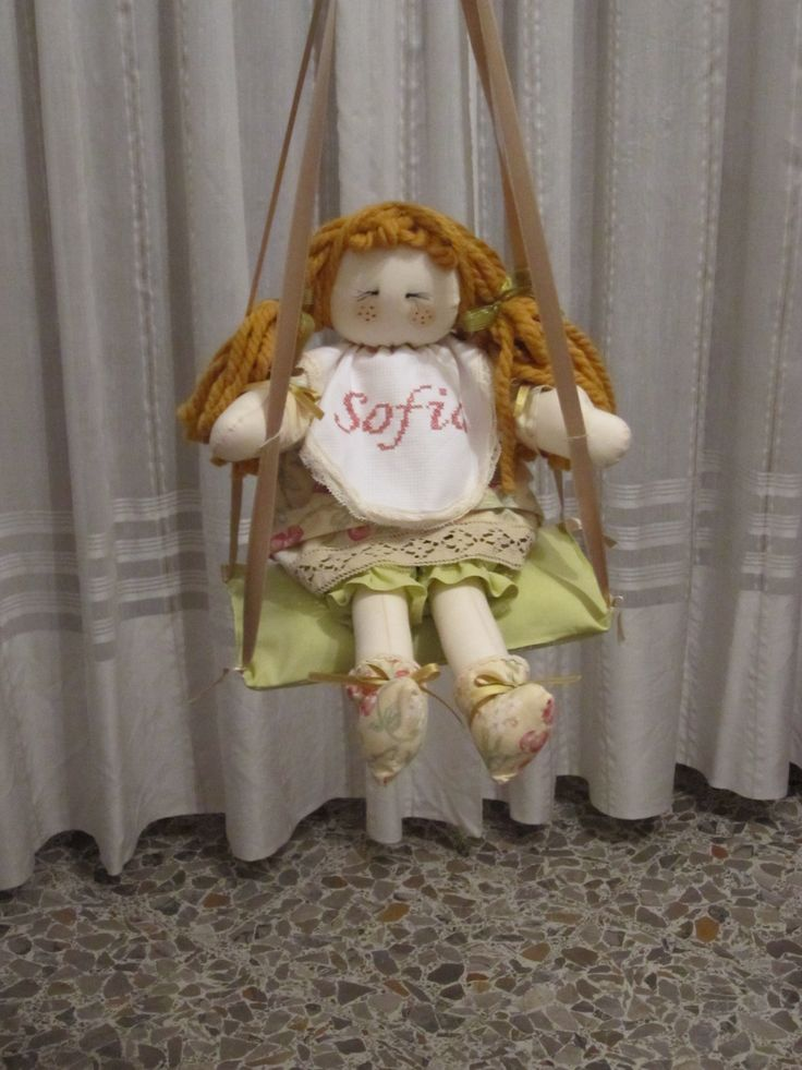 bambola di pezza #rag doll#creative sewing