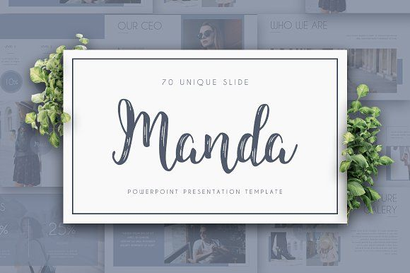 MANDA Powerpoint Template by Maspiko on @creativemarket
