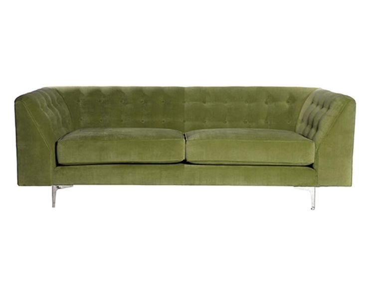 Olive green Deco sofa