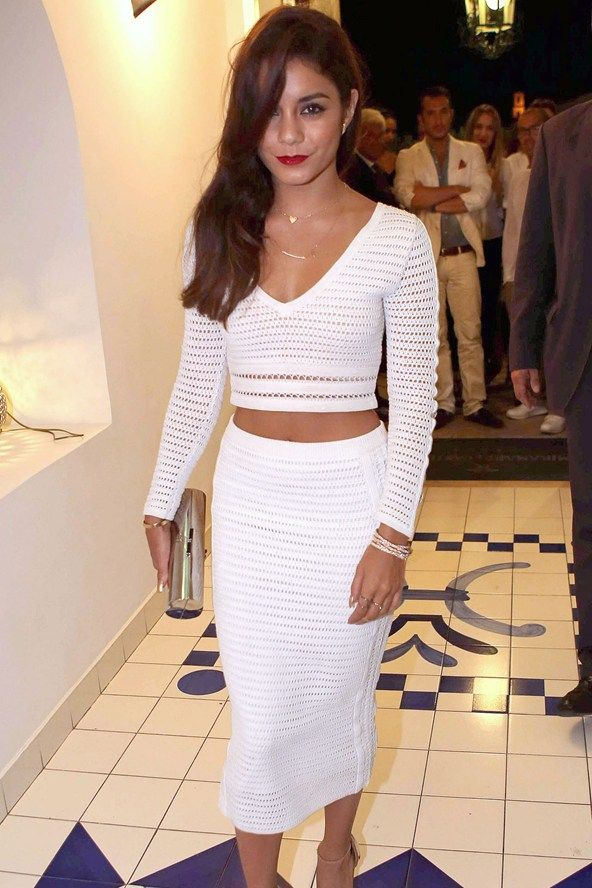 Loving this look right now... Vanessa Hudgens at the 2013 Ischia Global Fest Gala - Celebrity Fashion
