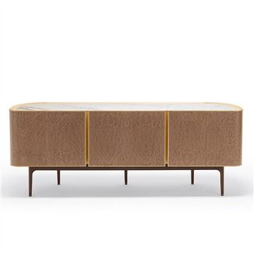 Giorgetti Moore Cabinet - Low - Style # 73005, Contemporary storage cabinets and modern sideboards at SWITCHMODERN.com
