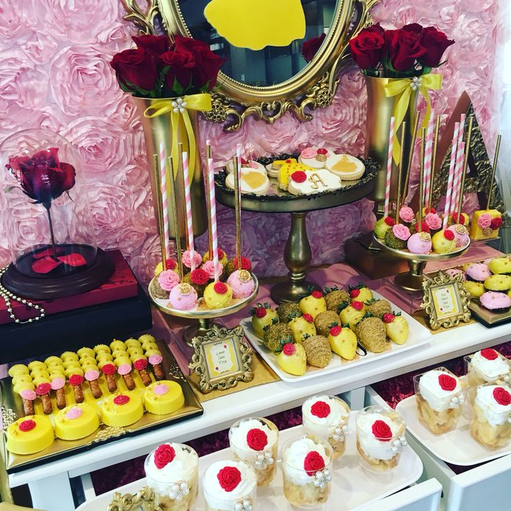 Beauty and the Beast Belle themed Bridal Shower, Wedding