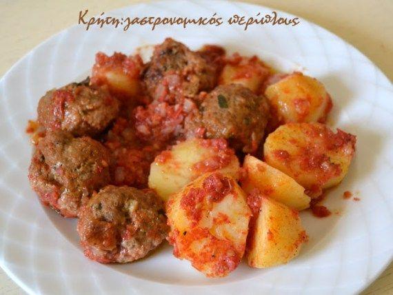 Κεφτέδες με πατάτες στην κατσαρόλα - Κρήτη: Γαστρονομικός Περίπλους