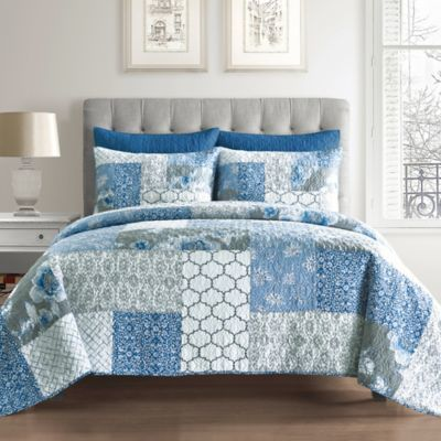 Ariel Cotton European Pillow Sham in Blue