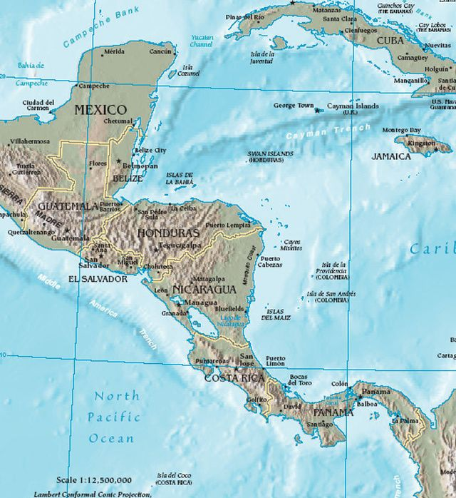 Central America Trip Planning for Vacationers: Maps and Other Important Info