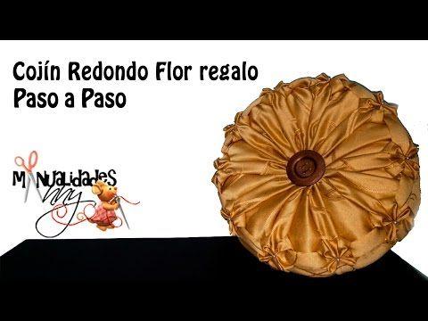 CLASE III - COJIN REDONDO - FLOR REGALO | Manualidades Anny - YouTube