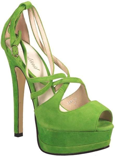 Купить салатовые зеленые туфли женские