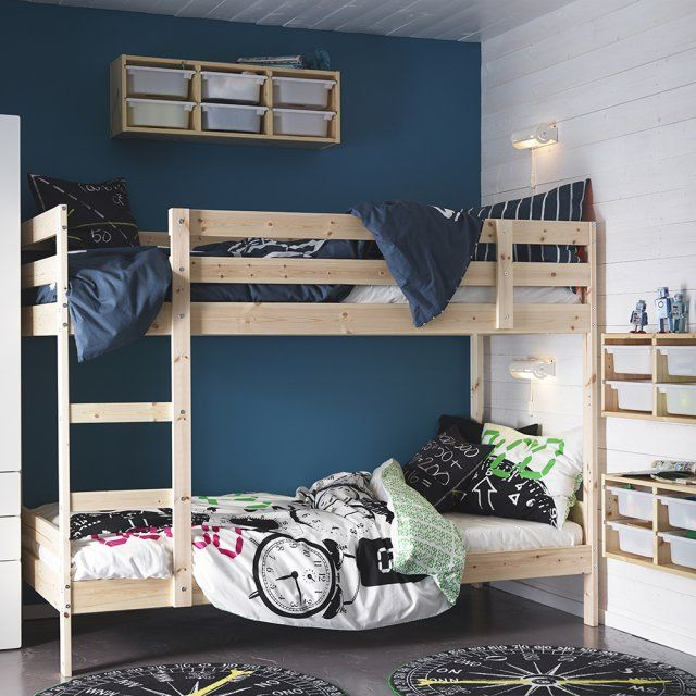 Lits superposés esprit scandinave pour enfant, IKEA