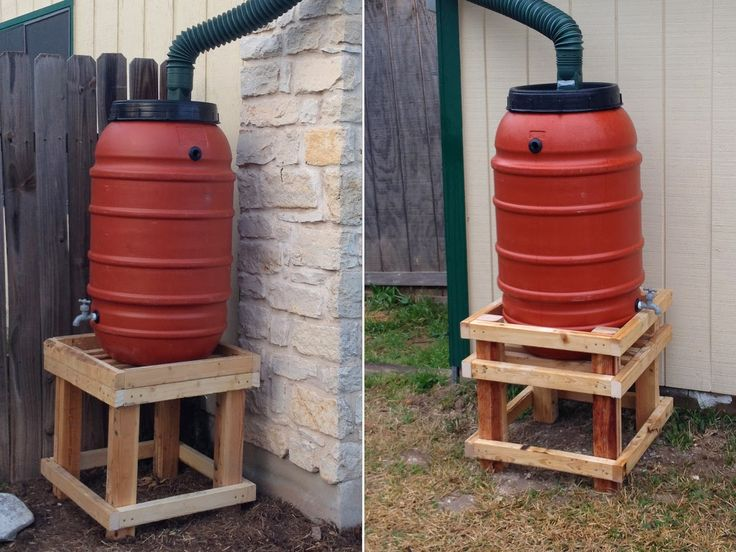 24 best images about rain barrel stands on pinterest for Rain barrel stand ideas