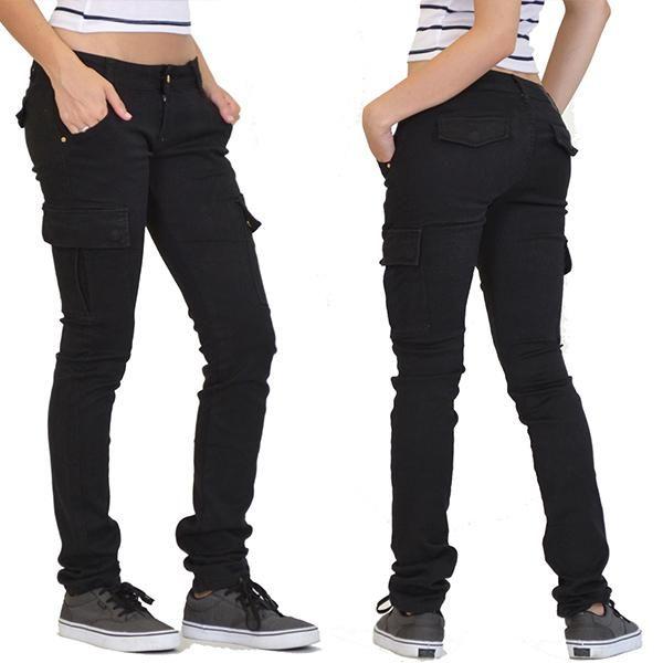 Women S Hip Hugger Slim Fit Stretch Cargo Pants Fannyu Store In 2020 Cargo Pants Slim Fit Pants Slim Pants