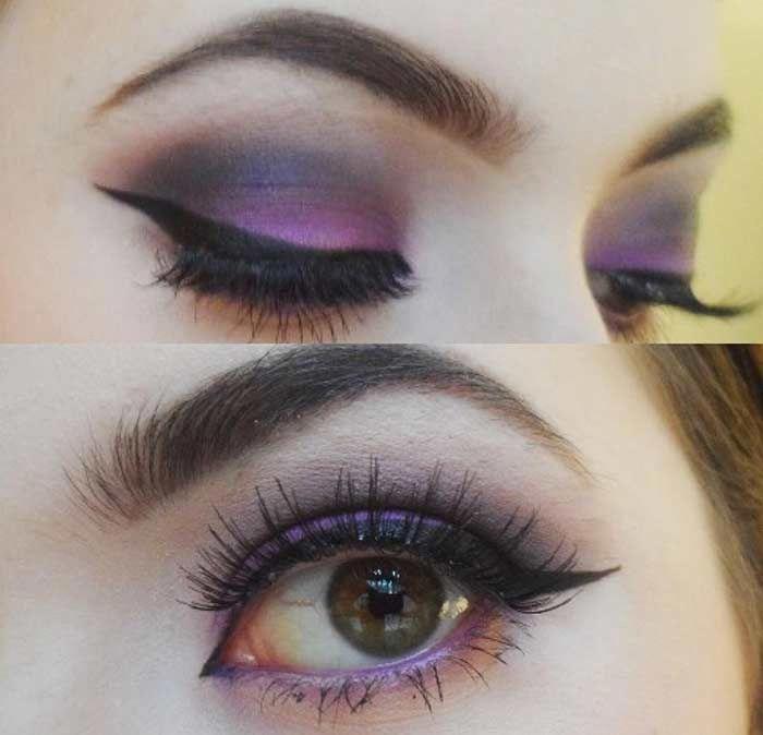 Makeup Tips : How to do purple Smokey eye makeup  Makeup  EyeMakeup  MakeupTutor…