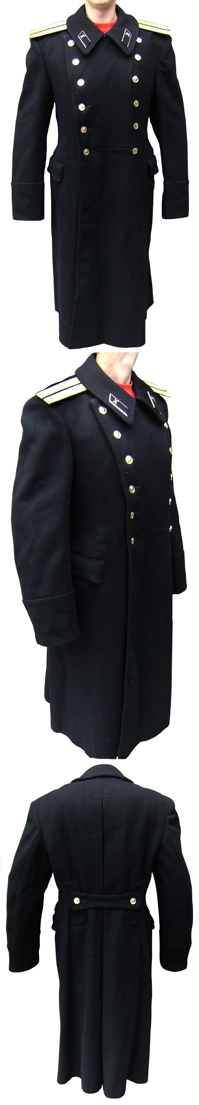 MILITARY SOVIET ARMY NAVAL OFFICER OVERCOAT