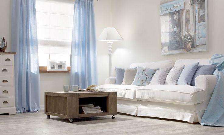Salon w pastelowym błękicie. #salon #livingroom #blue #niebieski