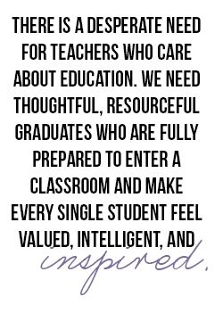 """""""Sorry Everyone, Education Majors Are Not Doomed""""   This article highlights the importance of teachers- especially those that do it for more than summers off. Teachers need to be prepared for ELLs and """" make every single student feel valued, intelligent, and inspired."""""""