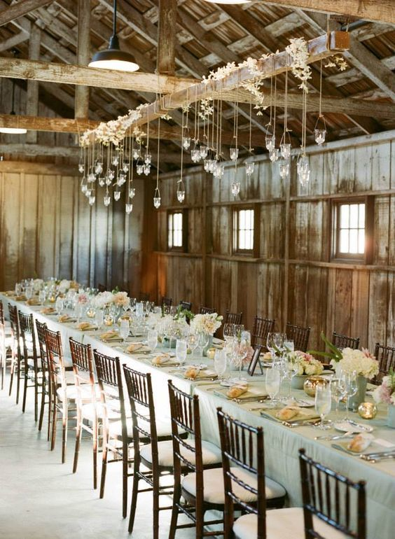 Elegant casual chic wedding reception; Featured Photographer: Sylvie Gil