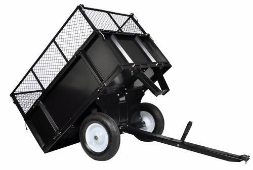 Remorque basculante en métal pour tracteur & quad