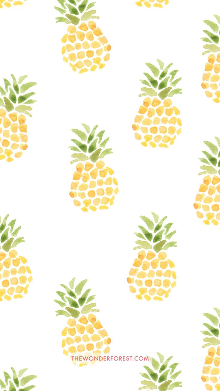 Pineapples iPhone wallpaper