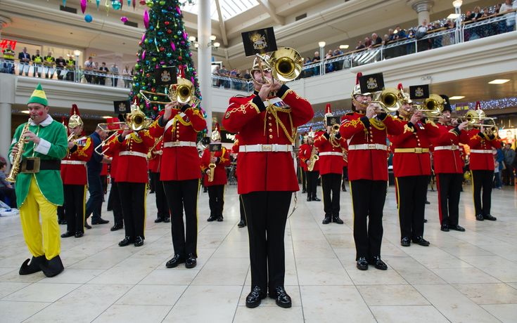 """Published on Dec 7, 2013.British Army Musicians entertained unsuspecting Christmas shoppers in Gateshead's Metrocentre with a flashmob performance of festive music:""""A Winter's Tale""""(made famous by David Essex),followed by """"Santa Claus is Coming to Town"""".The 60 professional musicians,Regular and Reserve,were drawn from The Heavy Cavalry and Cambrai Band,The Royal Regiment of Fusiliers Band and The Royal Signals (Northern)Band."""