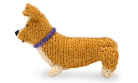 Bride-in-the-wool ... Knit your own royal wedding corgi. Photograph: Andrew Perris