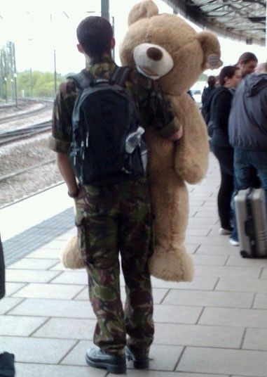 Pictures of the day: 4 May 2012 - Telegraph (soldier,europe,huge,teddy bear)