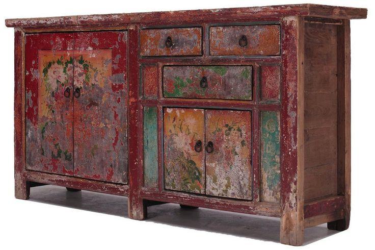 Unique painted chinese SideboardCU561 | 1,440€ | 89 alto x 179 ancho x 40 cm fondo