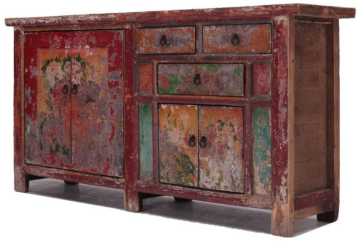 Unique painted chinese SideboardCU561 | 1,440€ | 89 alto x 179 ancho x 40 cm fondo