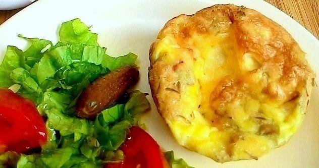 Mini suflês ou omeletes de forno