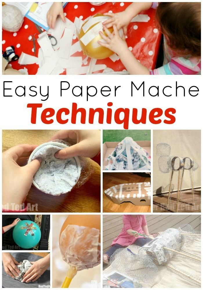 Paper Mache Techniques Red Ted Art Make Crafting With Kids