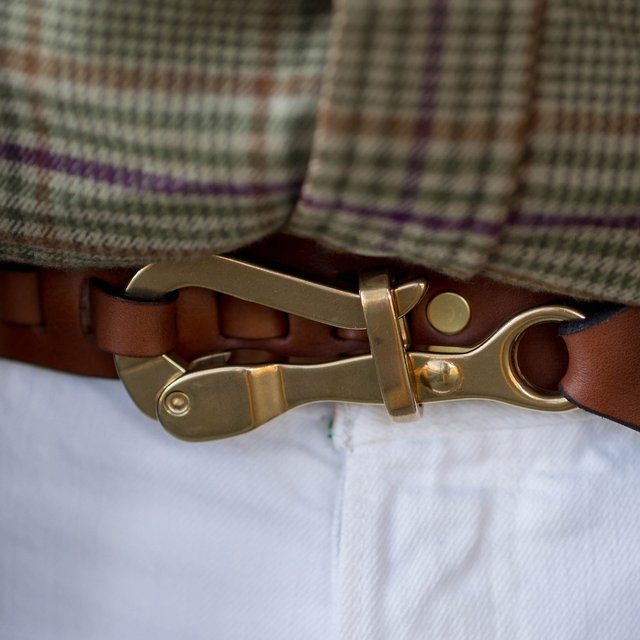 Pelican Hook Leather Belt by Sir Jack's