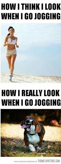 Just kidding i don't jog unless there are cupcakes involved!