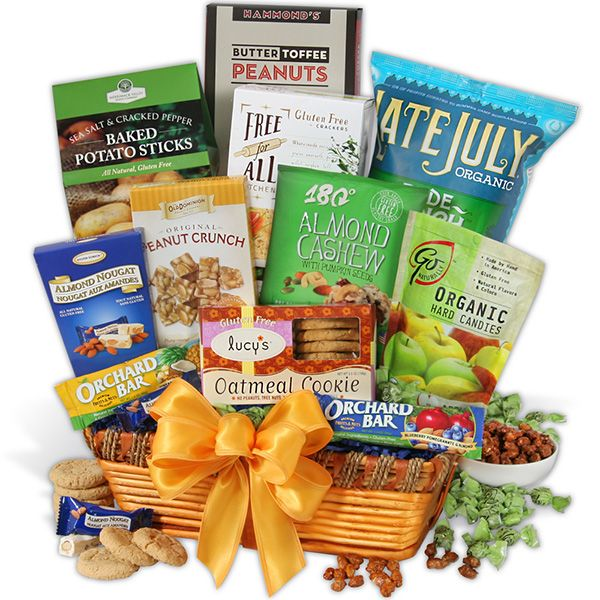 This classic gluten free gift basket is the perfect gift for a foodie who's on a gluten-free diet!