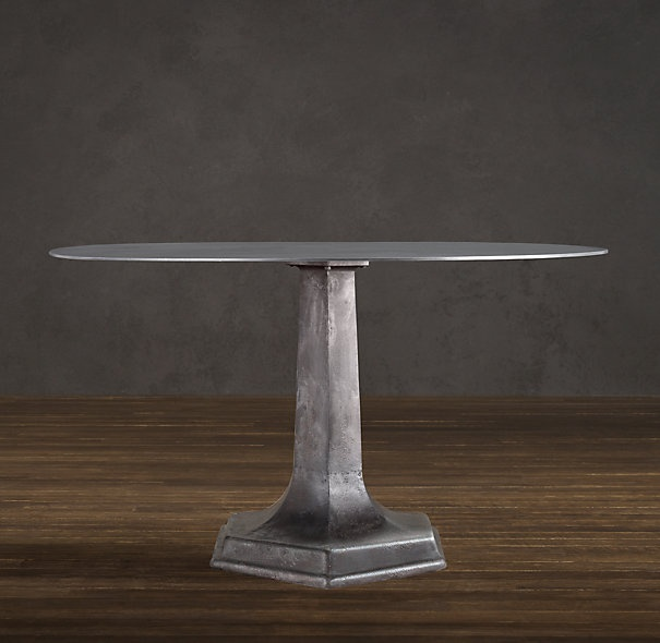 1940s belgian metal dining table lb dining table for Dining room tables at restoration hardware