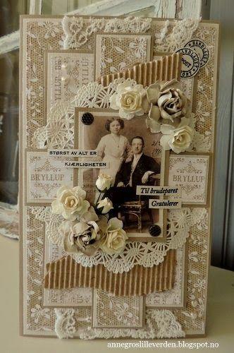 Bryllupskort Papirdesign annegroslilleverden.blogspot.no