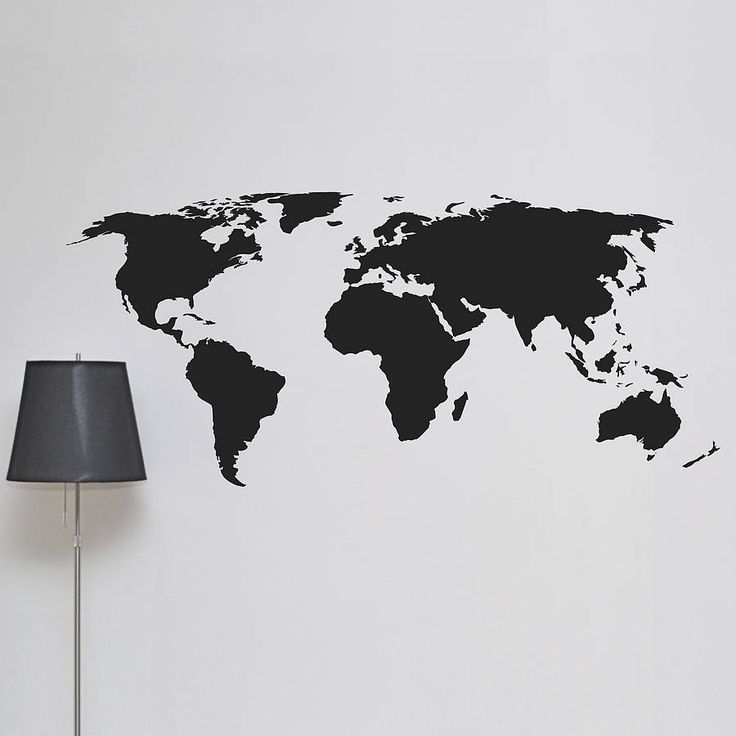 world map wall sticker - Google-søk