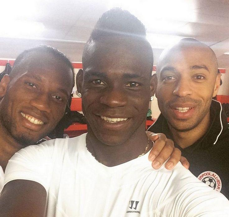 Didier Drogba, Mario Balotelli a Thierry Henry