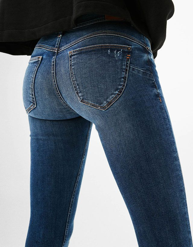 Must-have push-up jeans for women at Bershka in Spring/Summer 2017. Get the latest trends in black, white, blue or skinny push-up and bum lifting jeans.