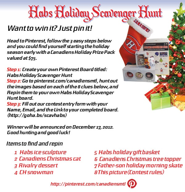 Habs Holiday Scavenger Hunt