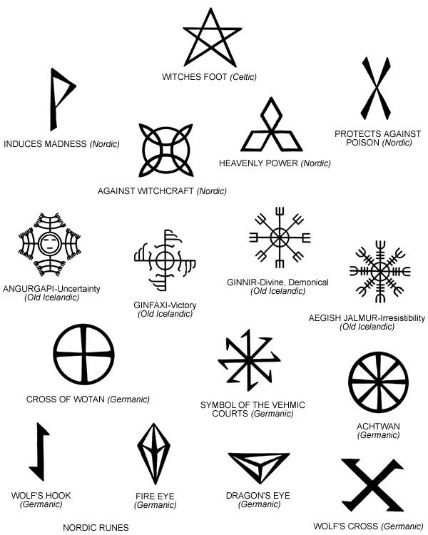 magical mystical symbols